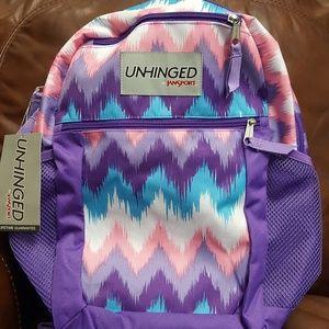 Backpack Jansport Purple Multi Color